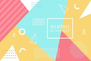 Contexte de Memphis vecteur