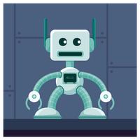 conception de personnage de robot vecteur