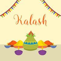 Illustration vectorielle de Kalash plat