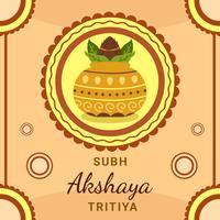 Festival d'Akshaya Tritiya avec le vecteur de Kalash