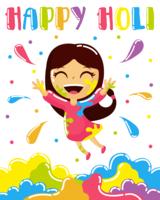 Joyeux vecteur de Holi