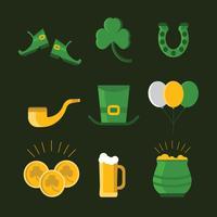 Icônes de St. Patrick vecteur