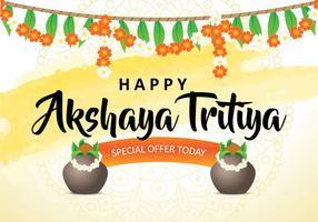 Arrière-plan heureux Akshaya Tritiya
