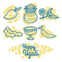 Ensemble de vecteur Ugadi