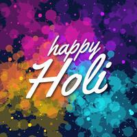 Joyeux Holi Salutations colorées