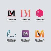 ensemble de modèles de conception de logo monogramme
