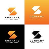ensemble de conception de logo monogramme lettre s