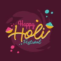 Joyeux Holi Festival vecteur