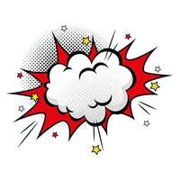 nuage avec icône de style pop art étoiles