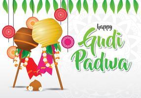 Gudi Padwa Célébration Contexte vecteur