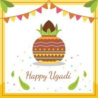 Joyeux vecteur d'Ugadi