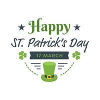 Heureuse affiche de la Saint-Patrick vecteur