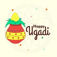 Festival d'Ugadi vecteur