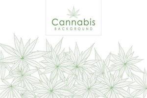 fond d'herbe de marijuana drogue feuille de cannabis vert vecteur
