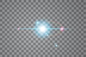 effet de lumière de lumière du soleil de vecteur