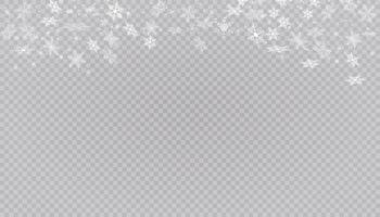 flocons de neige blanche sur fond.