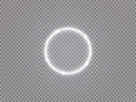 fond de cadre brillant rond avec des lumières. anneau lumineux de luxe abstrait. illustration vectorielle