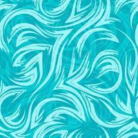 motif sans soudure géométrique de vecteur turquoise des coins des lignes fluides et des vagues sur fond turquoise. texture de la rivière de l'eau ou de la mer.