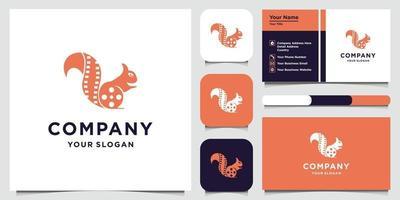 modèle de conception de logo de renard et carte de visite
