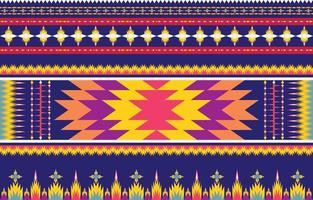conception traditionnelle de motif ethnique géométrique ethnique abstrait pour un fond vecteur