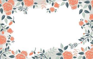 floral simple sur fond de couleur pastel vecteur