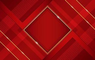 rouge géométrique avec des reflets dorés et composition de forme diagonale vecteur