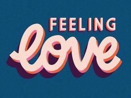 carte de voeux avec la conception de lettrage de main heureuse Saint Valentin. illustration dessinée à la main colorée avec typographie.