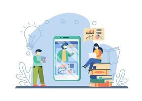 concept de cours en ligne vecteur