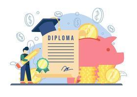 concept d & # 39; éducation de bourse