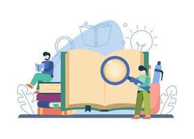 concept de livre éducatif vecteur