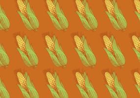 motif de maïs rétro vecteur