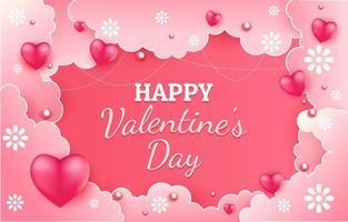 fond de voeux joyeux saint valentin vecteur