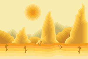 Illustration du paysage du désert vecteur
