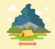 Paysage de camping vecteur
