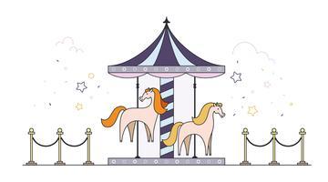 Vecteur de carrousel