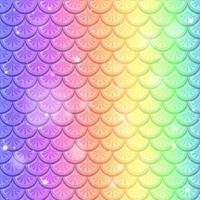 arc-en-ciel poisson échelle transparente motif de fond vecteur