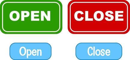 mots opposés avec ouvrir et fermer vecteur