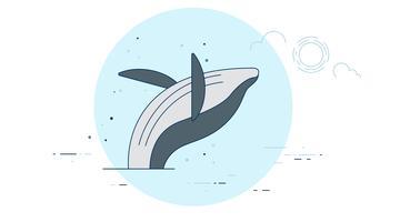 Vecteur de baleine