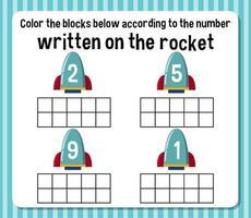 feuille de calcul du nombre de nombres mathématiques vecteur
