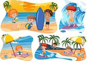enfants heureux à la plage