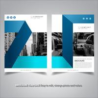 Conception de la brochure élégante bleue vecteur