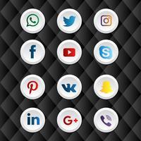 Boutons de médias sociaux vecteur