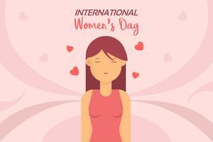 Vecteurs de la journée internationale de la femme vecteur