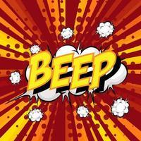 Bip libellé bulle de dialogue comique sur burst vecteur
