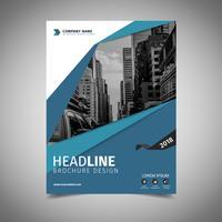 couverture de la brochure commerciale vecteur