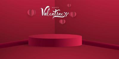 Saint Valentin, modèle de maquette de bannière. vecteur