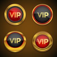 Bouton d'icône Vip Gold vecteur