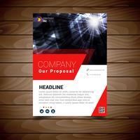 Modèle de conception de brochure moderne vecteur