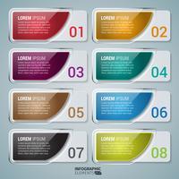 Éléments de conception de bannière de numéro infographique vecteur