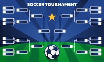 Support de tournoi de football vecteur